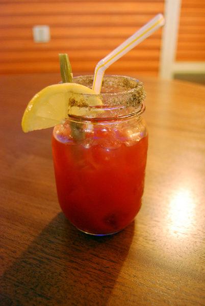 Caesar cocktail served at Captain's Pub