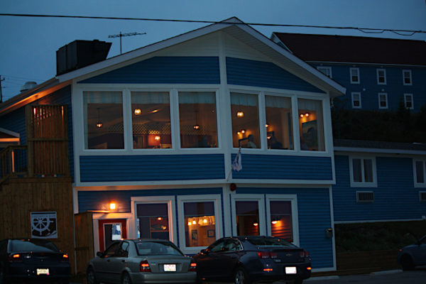 Anchor Inn Hotel at night, photographed by Norma Hamlyn
