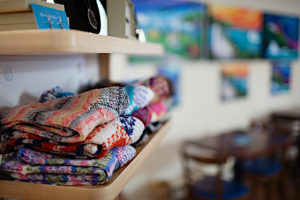 Knitwear at the Blue Barrel Cafe