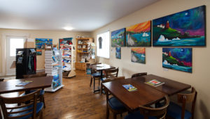 Blue Barrel Gallery at the Anchor Inn Hotel in Twillingate.
