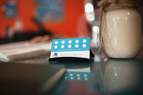Blue Barrel Cafe Loyalty Cards