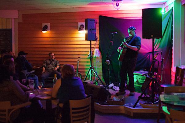 Mike Sixonate performs at Captain's Pub