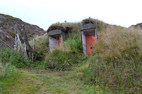 Two root cellars side by side in Durrell on the way to French Beach.