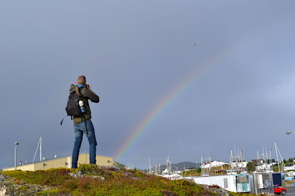 This photographer was lucky to capture a beautiful rainbow ... and hopefully found the pot of gold at the end of it!