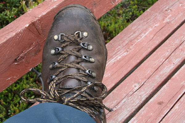 Good footwear is essential when hiking along Twillingate's Trails