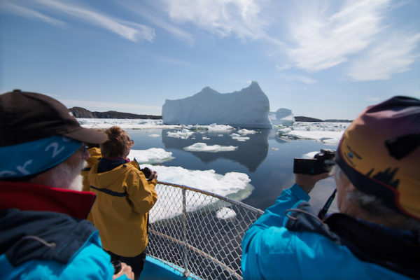 Enjoying a boat tour and photographing icebergs in Twillingate.