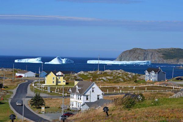 Icebergs in Harts Cove, Twillingate