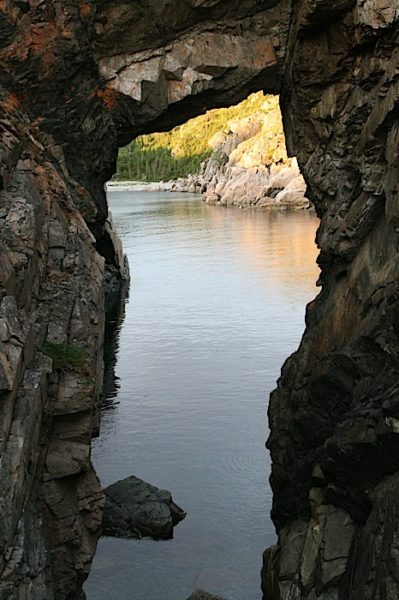 Hike to the Natural Arch in Little Harbour, Twillingate