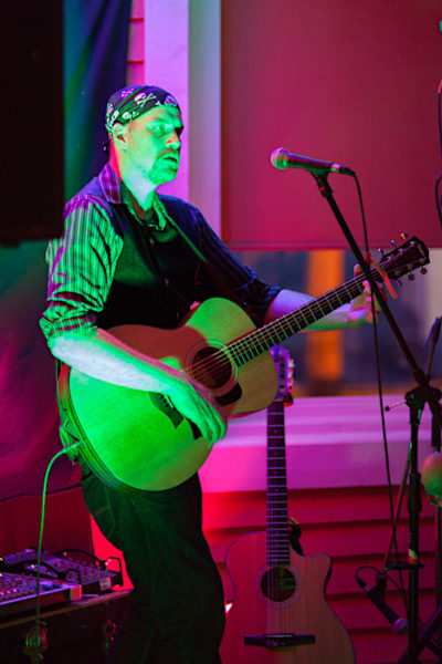 Mike Sixonate, talented musician and songwriter, performs at Captain's Pub 6 nights a week.