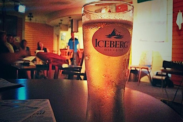 QV Iceberg Beer at Captains Pub