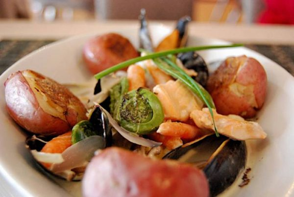 Seafood Hodgepodge at Georgie's Restaurant