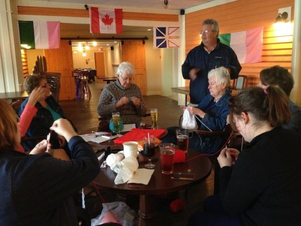World Wide Knit in Public Day - Purl with Pints - Twillingate