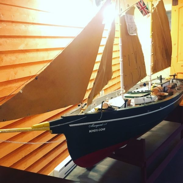 Schooner model in Captain's Pub