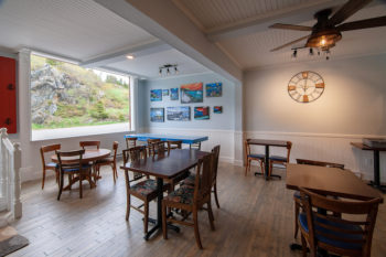 Blue Barrel Gallery Cafe at Hodge Premises in Twillingate